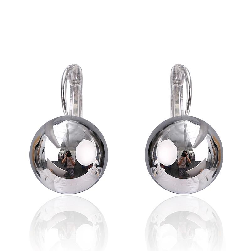 2017 Fashion Jewelry Gold-color Luxury Earrings Shining Ball Shape - Fashion Jewelry - Photo 4