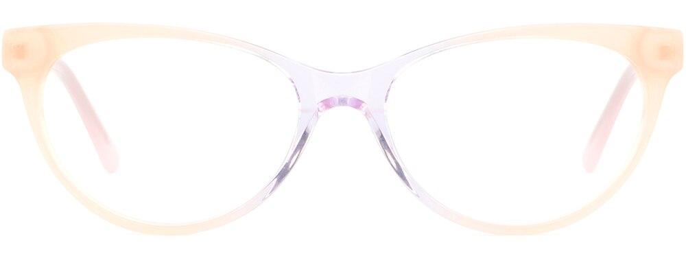 3bf779f7db Light Womens Cat-Eye Plastic Frames Spring Hinges Acetate Glasses ...