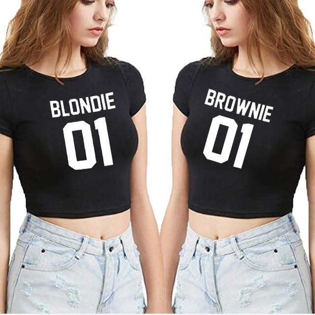 Very talented sexy girls with shirts on blondie how