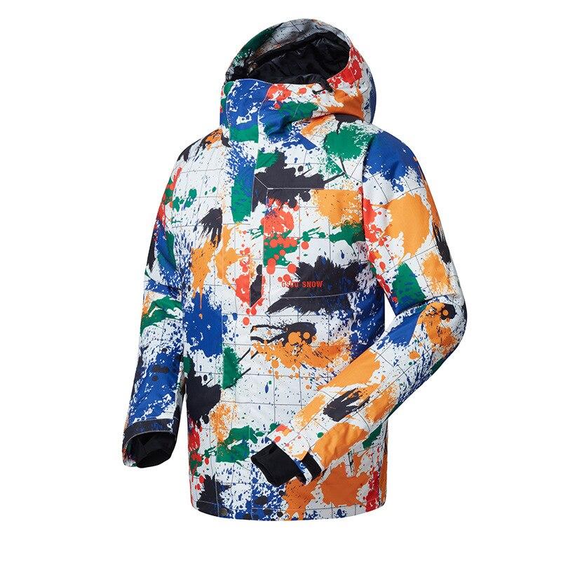 Snowboard Jacket Men Waterproof Windproof Snow Ski Jacket Very Cool Outdoor Skiing Winter Wear