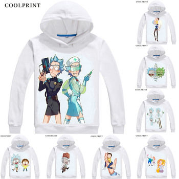 Rick and Morty Hoodies Hooded Hoodie Anime Rick and Morty Rick Sanchez Mad scientist Morty Smith Cosplay Sweatshirts фото