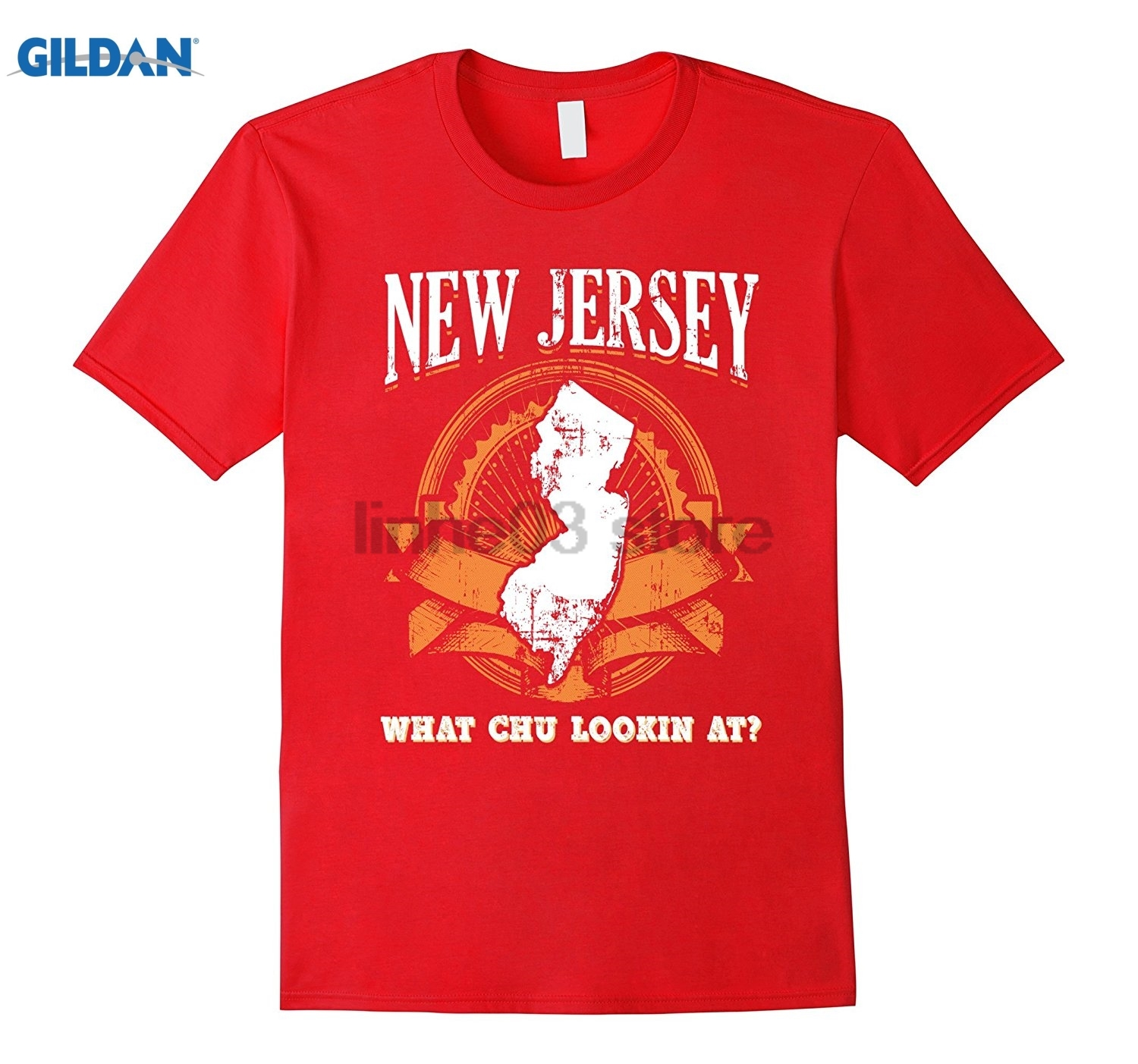 GILDAN New Jersey Funny Shirt Fake State Motto Slogan Gag Gift USA glasses Womens T-shirt