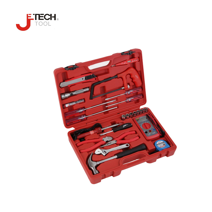 Jetech tool 25pcs/set equipment technician electronic repair tool kit set combination hand tools sets with case toolbox pro skit sd 9326m consumer electronic equipment repair kit green black