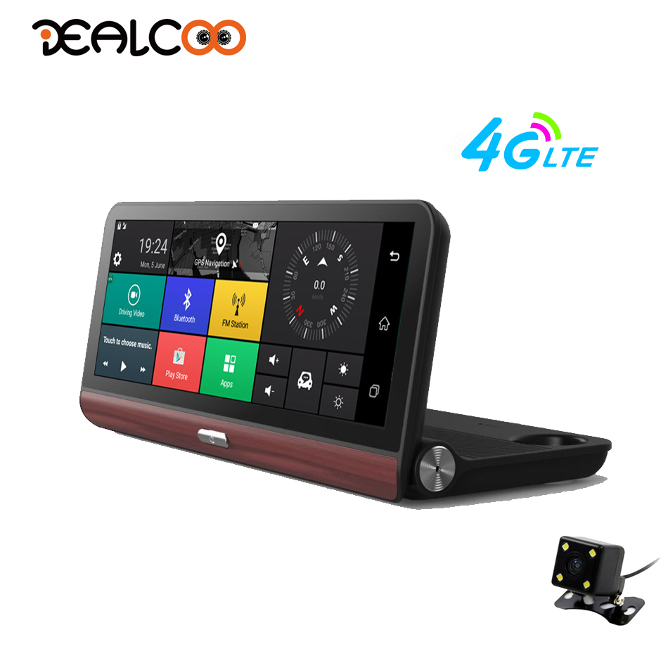 Dual Dash Cam >> Dealcoo Car DVR Video Recorder Camera 8 inch ADAS GPS Android 4G WIFI 1080P FHD Dual Lens GPS ...