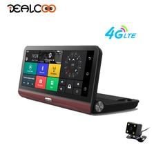Dealcoo Видеорегистраторы для автомобилей Видео Регистраторы Камера 8 дюймов ADAS gps Android 4 г WI-FI 1080 P FHD Двойной объектив gps трекер парковка монитор регистраторы