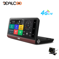 Dealcoo 8 Inch 4G Car DVR GPS Navigation Android Dash Cam Camera Bluetooth FM Full HD