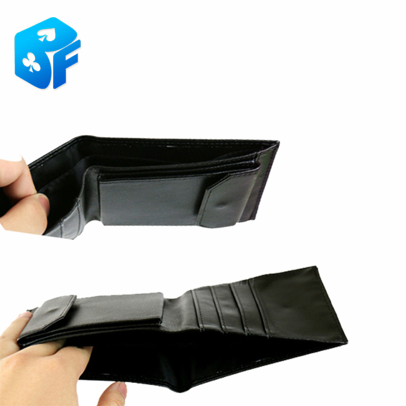 CARDS Into The Wallet - Cinch In Wallet Magic Tricks (two-in-one) Top Quality Magic Props