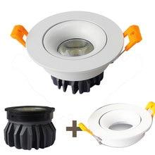 GD 4pcs5W 7W 10W LED Spotlight AC220V Module + Holder Spot Easy Installed Downlight View angle Adjustable Focus SPot