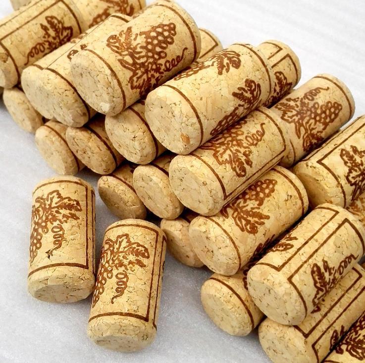 de Vinho Rolhas de Madeira Natural Não