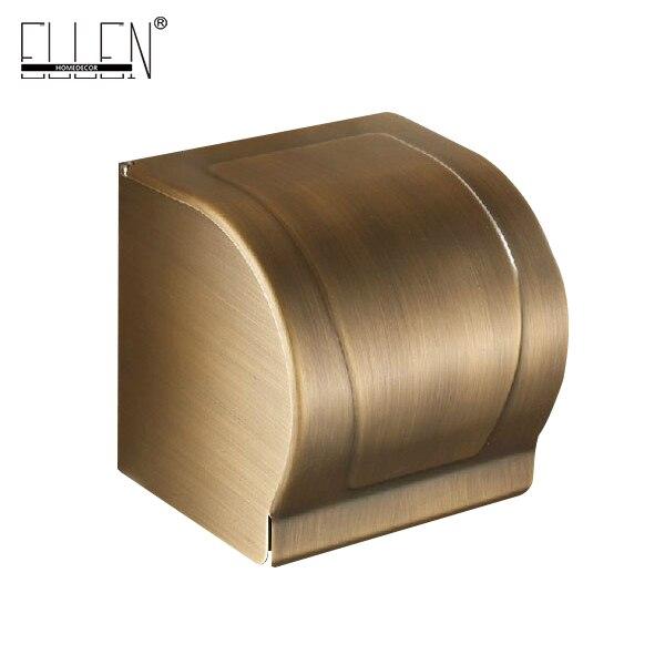 Antique Brass Finish Tissue Holder Covered Toilet Paper Holder