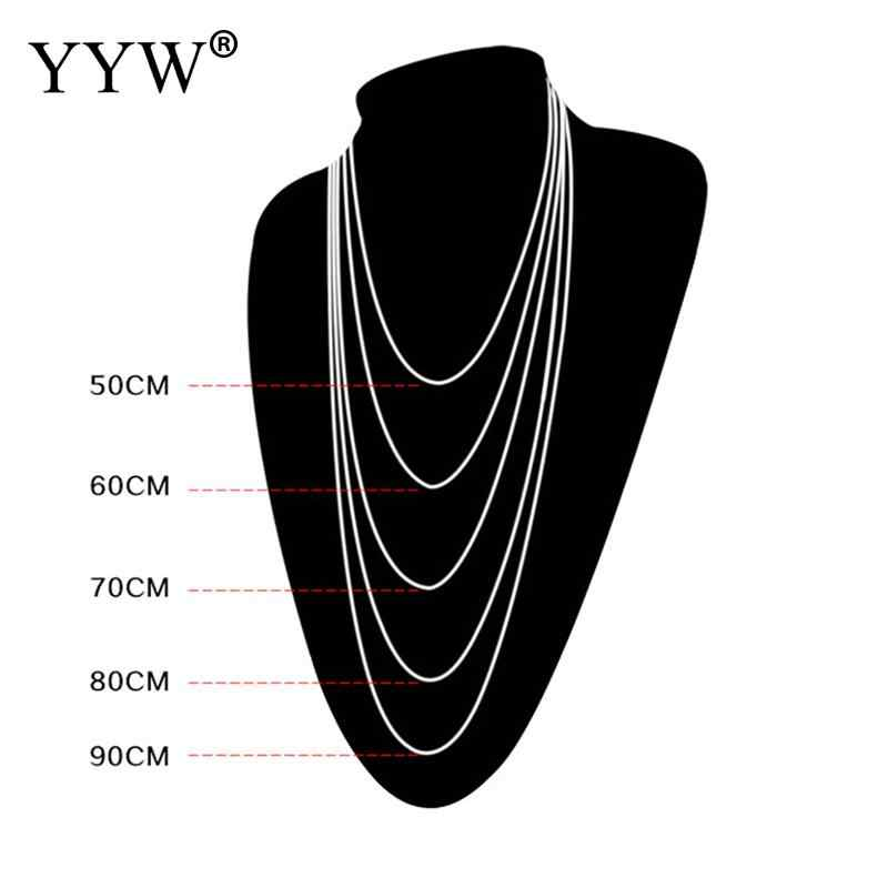 YYW New Punk Simple Strand 1.5mm to 6mm Dia Ball Beaded Chain 50-80cm Long Original Color Stainless Steel Chain Choker Necklaces