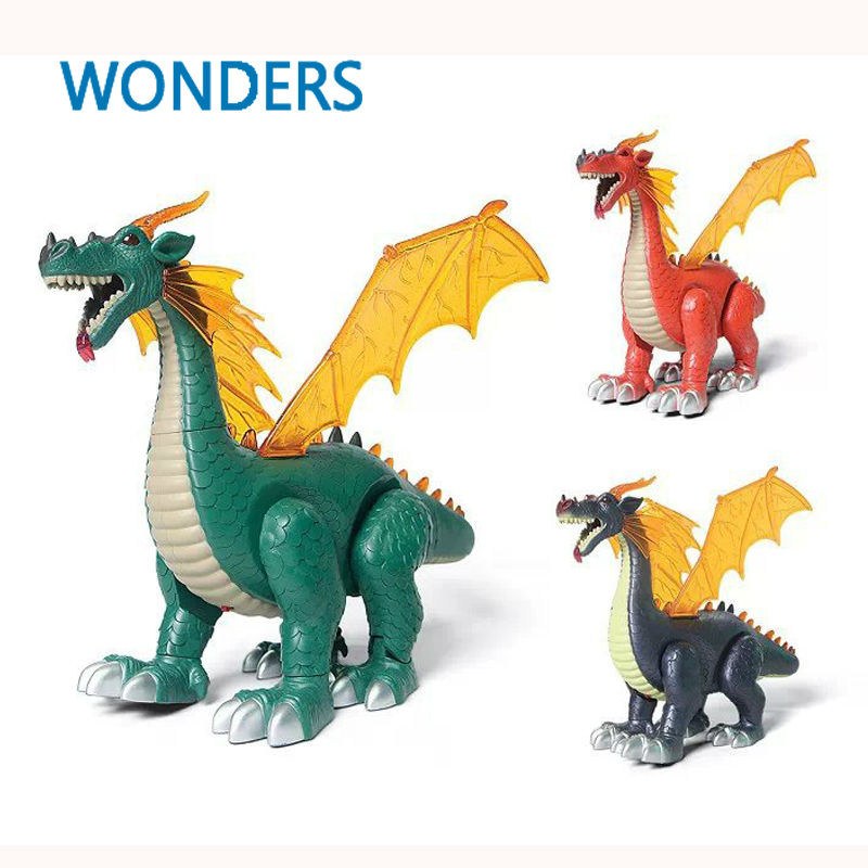 Large sized electric dinosaur Jurassic breaking-out wing dinosaur can lay eggs, speak and move and glow of interactive toys