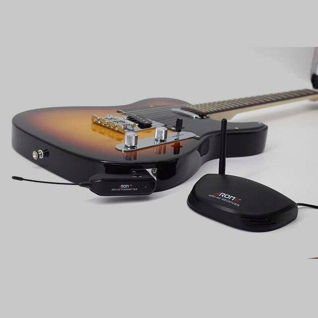 AROMA ARU-02 UHF Wireless Guitar Digital Audio Transmitter Receiver System USB Cable for Guitar Bass Ukulele