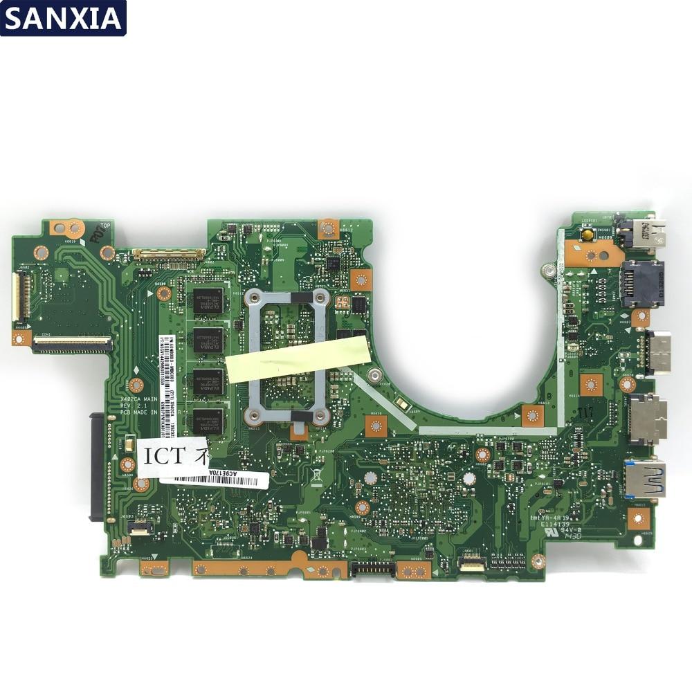Calvas Send board+X402CA for ASUS X502CA X402CA motherboard for laptop X502CA new motherboard rev2.0 4 g RAM 1007u DDR3L Tests 100/% OK