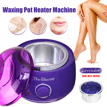 Hair Removal Wax Warmer Heater Paraffin Pot Mini SPA Machine Kit 100g Wax Bean Professional EU/US Plug Hand Feet Body Depilatory