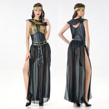 Deluxe Cleopatra Costume Sexy Women Ancient Egyptian Pharaoh Clothing Adult Halloween Party Cosplay Egypt Queen Long Dress(China)