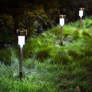 12Pack LED Solar Garden Light White/Warm White Multiple Lantern Stainless Steel Led Pathway Landscape Lighting for Patio Yard