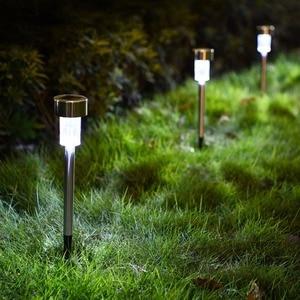 Image 2 - LED lampy ogrodowe na energię słoneczną na zewnątrz lampa zasilana energią słoneczną latarnia wodoodporna oświetlenie krajobrazu na szlaku Patio, ogródek dekoracja trawnika