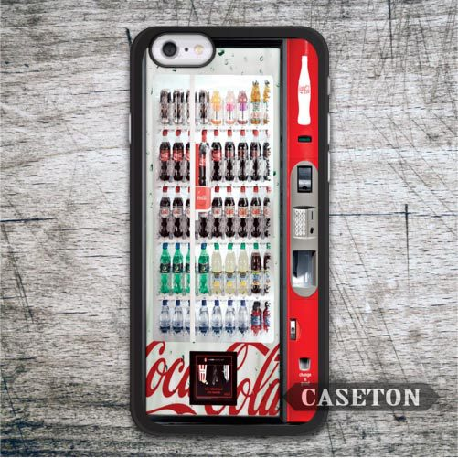 Red Drinks Vending Machine Case For iPod 5 and For iPhone 7 6 6s Plus 5 5s SE 5c 4 4s Vintage Retro Ultra Cover Free Shipping