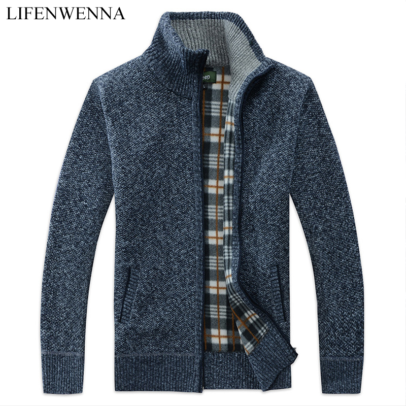 2019 Thick New Fashion Brand Sweater For Mens Cardigan Slim Fit Jumpers Knitwear Warm Autumn Casual Korean Style Clothing Male