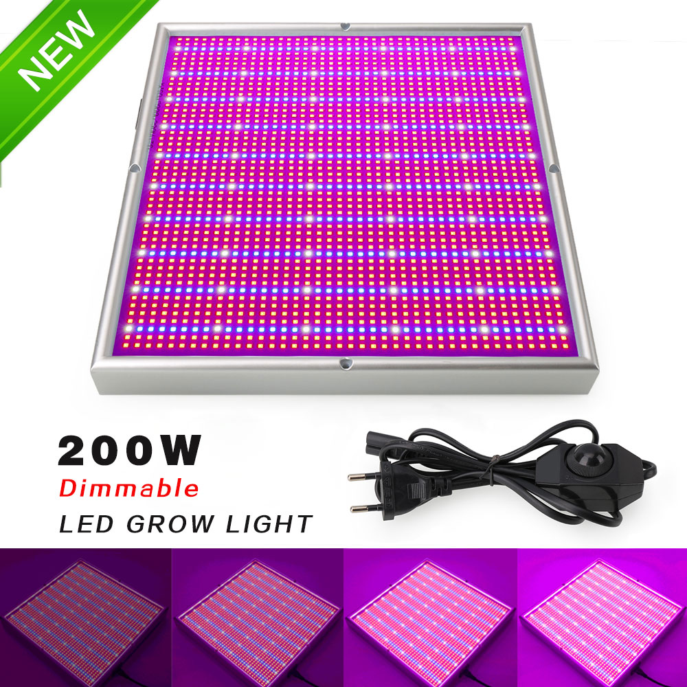 Più nuovo Dimmable 200 w LED Coltiva La Luce 2835SMD Bianco Rosso Blu LED Grow Box Per Interni Giardino Serra Piante Semi fiori