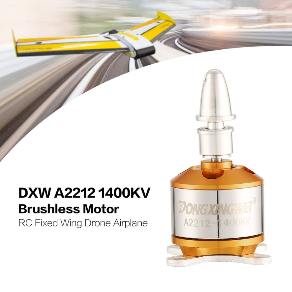 DXW A2212 2212 1400KV 2-4S 3.17mm Outrunner Brushless Motor For RC FPV Fixed Wing Drone Airplane Aircraft 9050 Propeller