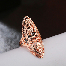 Hot Sale 1PC Trendy Silver Rose Gold Color Classical Finger Ring for Women Fashion Wedding Gift Rings Valentines Day Gifts