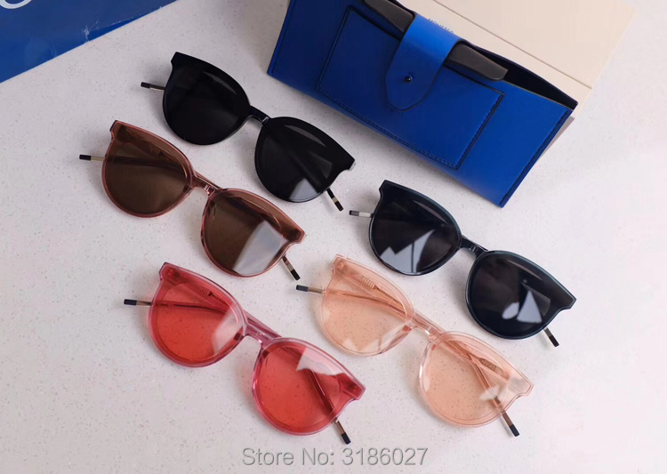 Fashion Korea Vintage Sunglasses See Saw Retro Round Luxury Sun Glasses For Men Womens gentle Brand Designer UV400 Oculos De Sol