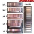 Nk 1 2 3 4 5 naked smoky sombra com escova 12 kit de maquiagem Paleta de cores cosméticos dropshipping cuidados com o rosto do correio aéreo Registrado