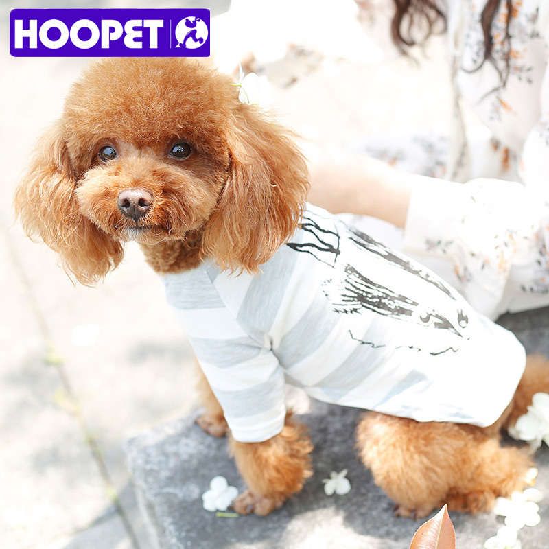 HOOPET Cute Pet Dog Clothes Soft Summer Cotton Puppy Shirts T shirt Costume Clothing for Small Pets
