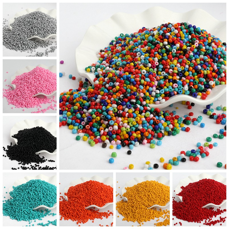 500pcs/lot 3mm Solid Color Czech Glass Seed Spacer Beads Austria Crystal Round Hole Beads For Kids Jewelry DIY Making Accessorie(China)