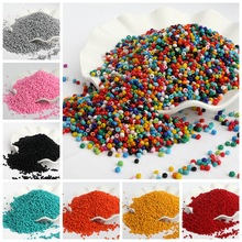 500pcs/lot 3mm Solid Color Czech Glass Seed Spacer Beads Austria Crystal Round Hole Beads For Kids Jewelry DIY Making Accessorie
