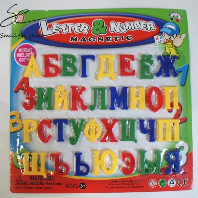 New 33 Pieces 3.5cm Russian Alphabet Fridge Magnets Plastic Toys Child Letter Education Toy