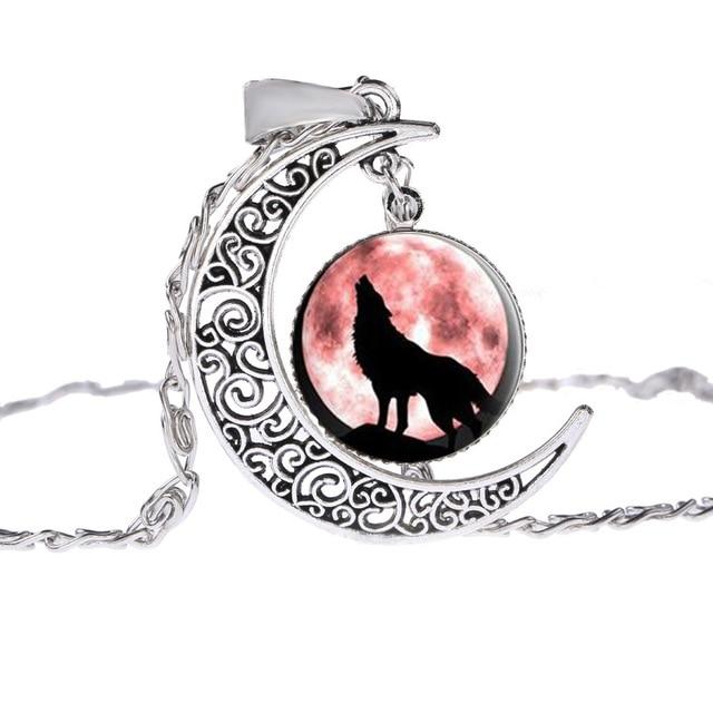 Collier Loup Lune Motif 8