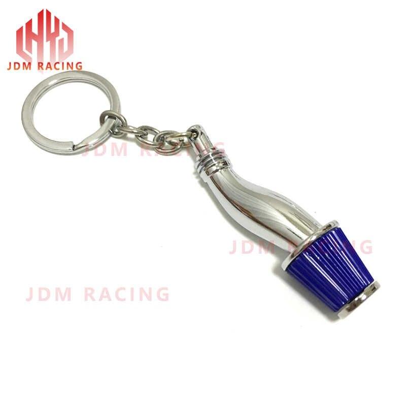 Hot Car Tạo Kiểu Hellaflush Racing Car Keyring Air Intake Lọc Keychain Sáng Tạo Mạ Đầy Màu Sắc Jdm Keychain xe những người đam mê