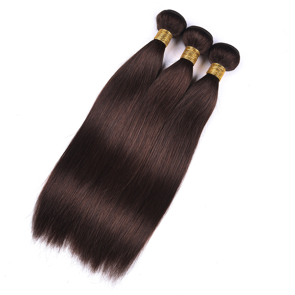 LINLIN Pre-colored #2 bundle Vietnamese Straight Hair Non-remy Hair Weave Extension Dark Brown Color #2 10-26 Inch Hair Rollers цена