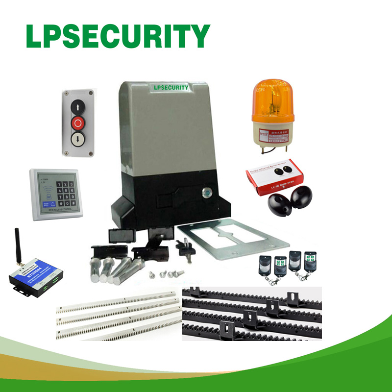 LPSECURITY AC Electric Sliding Gate Opener Motor Automatic Gate Opener Auto Openers 800kg 1500kg 4m 5m