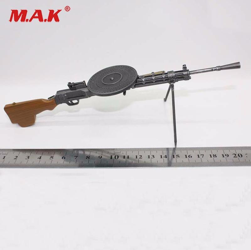 1/6 Scale Model Gun DP28 WW2 Russian LMG Degtyarev Light Machine Gun Model for 12 inches Soldier Figure 1 6 scale wwii walter p38 p 38 pistol gun model weapon toy for 12 inches soldier figure accessories