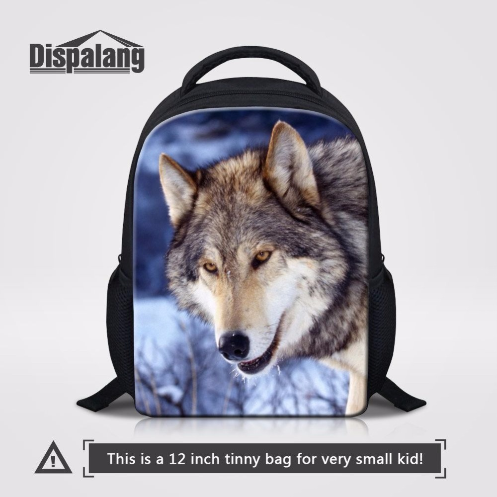 Dispalang Animal Wolf Print School Bags