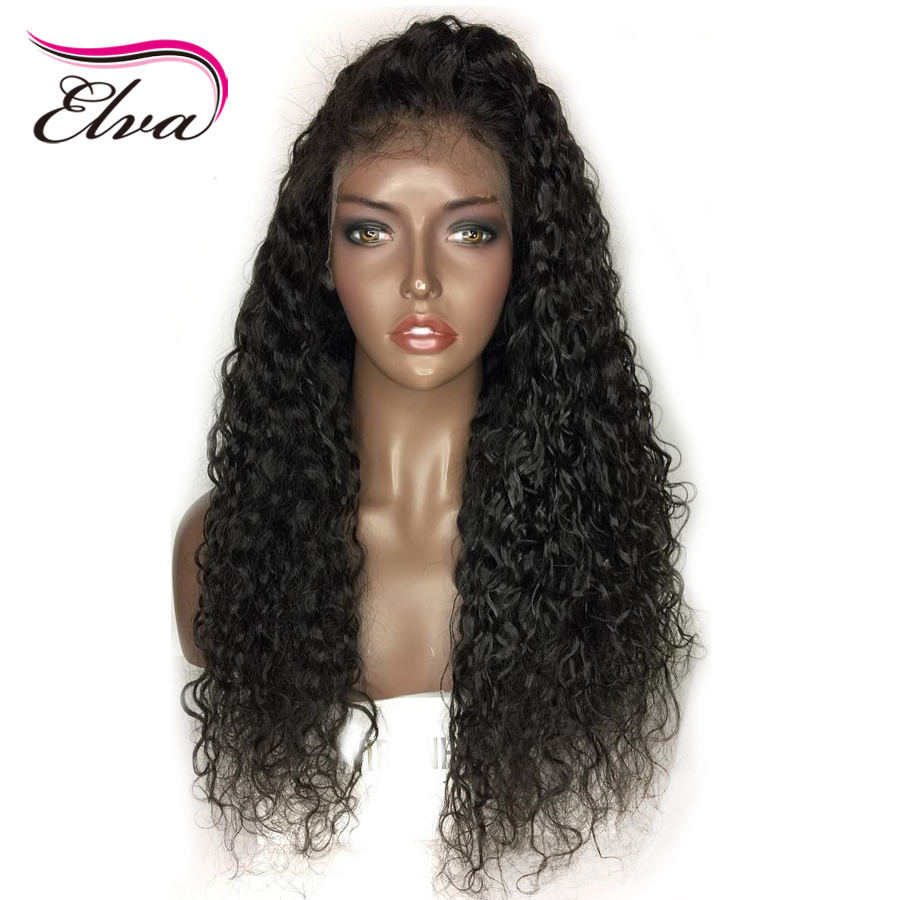 Elva Hair Water Wave Full Lace Human Hair Wigs With Baby Hair Pre Plucked Hairline Brazilian Remy Hair Wigs With Bleached Knots