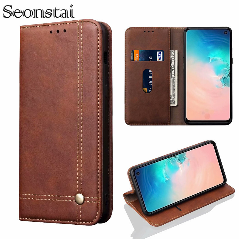 Retro Flip Leather Case for Samsung A50 A60 A30 A40 A70 Wallet Etui for Samsung Galaxy A7 A6 2018 A8 A9 A8S A20 Magnetic Cover