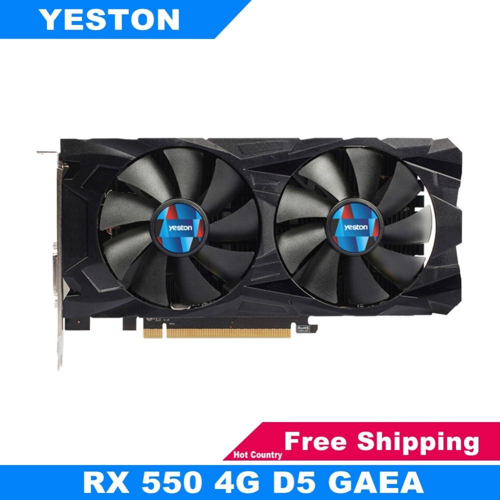 цена на Yeston Graphics Card RX550-4G 128bit GDDR5 6000MHz Gaming Desktop Computer PC Video Graphics Cards Support DVI-D HDMI