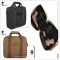 2016 NOVA EmersonGear Dupla Função Pistola Revólver Carry Soft Case Bag Detém 2 Arma + Faixa de Revistas