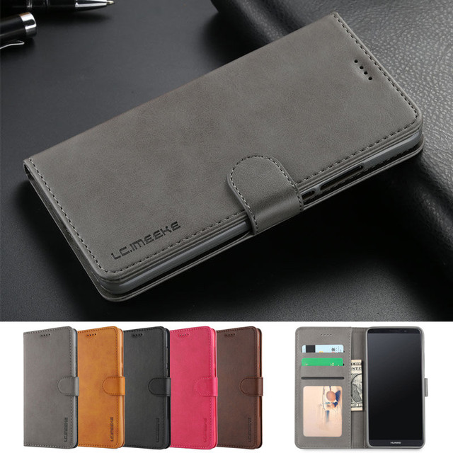 Huawei Mate 10 Lite Case Luxury Brand Flip Phone Case For Coque...