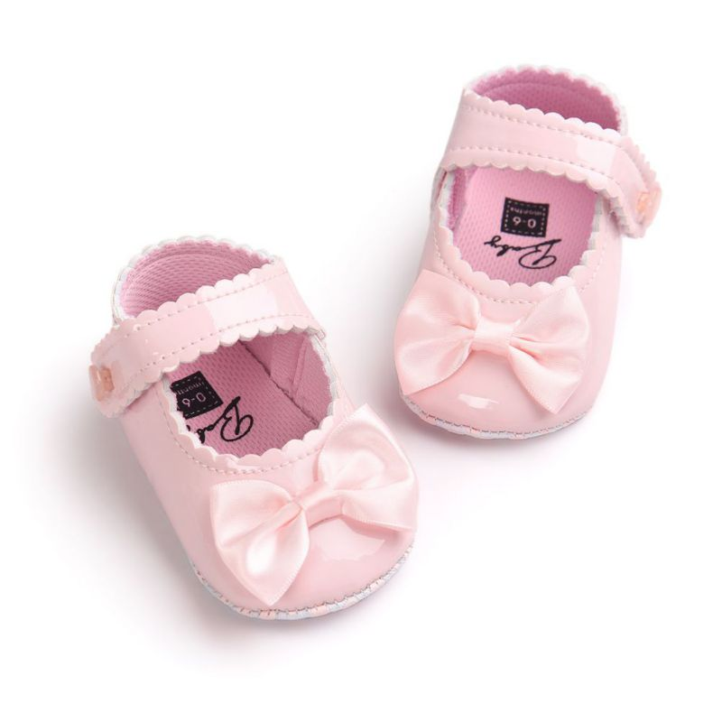Infant Baby Shoes Girls Boys Soft Sole PU Leather First Walkers Moccasins Crib Bow Shoe 0-18 Months