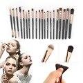 20 unids/set Profesional Pinceles de Maquillaje de Sombra de Ojos Fundación Nariz Pincel de Labios Maquillaje Maquillaje Herramienta Envío de La Gota Al Por Mayor