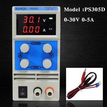 KUAIQU mini zasilacz prądu stałego, zasilacz impulsowy wyświetlacz cyfrowy zmiennej regulowany zasilacz laboratoryjny 0-30V0-5A PS305D