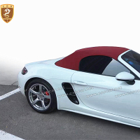 New Arrival Real Carbon Fiber Side Vents Decoration Car For Porsche 718 Boxster 2016 2017 2018 Hot Body Kit Side Vents Car Parts