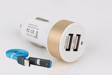 2016 hot 5V 1A/2A double USB car charger for Meizu M2 note MX4 Pro MX3 MX5 Meizu M2 mini Xiaomi Mi5 Oneplus one+2-1 Data Cable