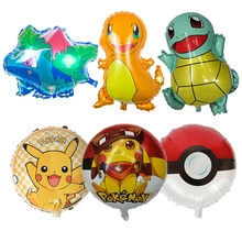 Pokemon Pikachu Foil Balloons Inflatable Balloon Kids Birthday Party Decorations Baby Shower Supplies Gift For Kids(China)
